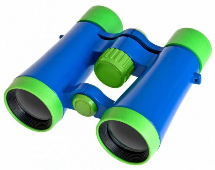 Bresser jugendfernglas 11 cm blau/grün