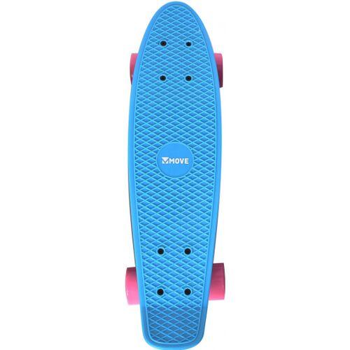 Move skateboard Old School Retro 57,5 cm Aluminium hellblau