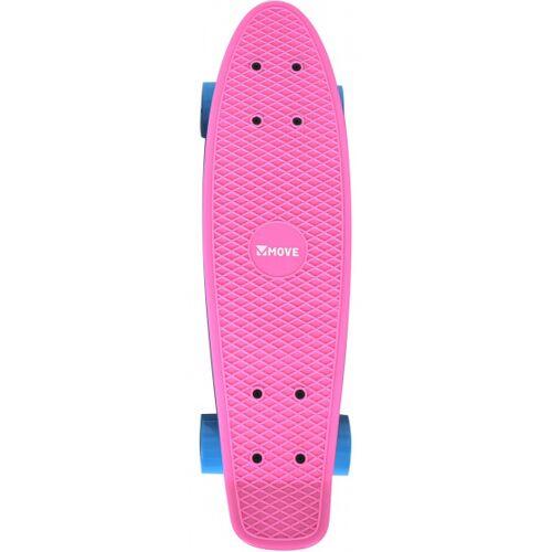 Move skateboard Old School Retro 57,5 cm aluminiumrosa