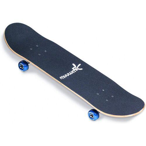 Muuwmi skateboard 79 x 20 cm Holz/Aluminium dunkelblau
