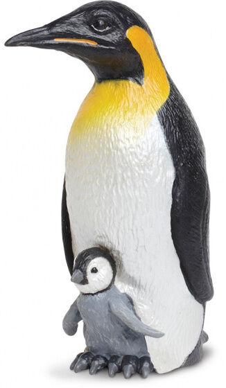 Safari spieltiere Kaiserpinguin mit Küken 11,5 cm schwarz/weiss