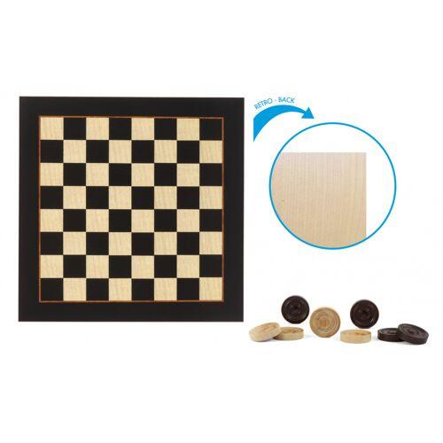 Dal Negro schachbrettmuster 29,5 x 29,5 cm Holz schwarz/beige 41 teilig