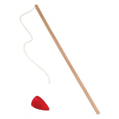Glückskäfer kreisel mit Stabholz 50 cm klar/rot