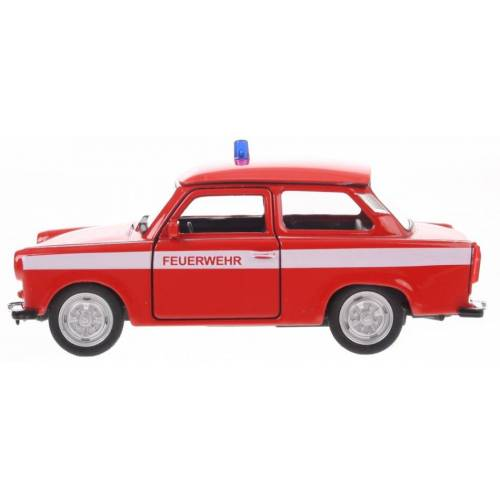 Goki brandweer Trabant 601 rot 11 cm