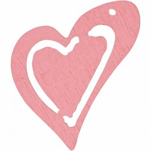 Happy Moments holzherzen 2,5 x 2,2 cm rosa 20 Stück