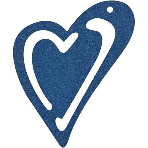 Happy Moments holzherzen 5,5 x 4,5 cm dunkelblau 10 Stück