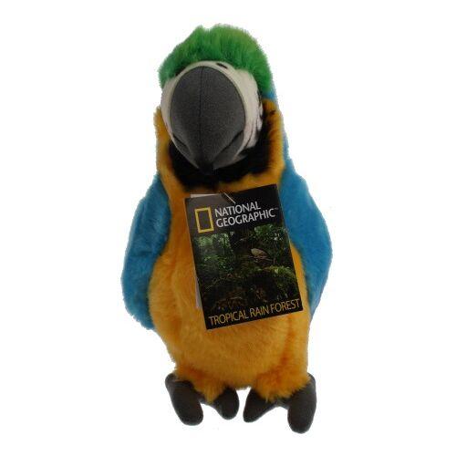 National Geographic stofftier Papagei 26 cm Plüsch blau