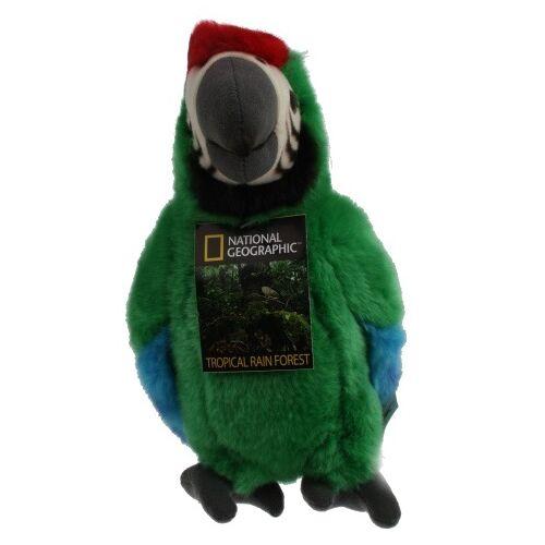 National Geographic stofftier Papagei 26 cm Plüsch grün