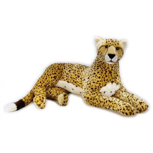 Lelly stofftier Gepard Junior 110 cm Plüsch gelb/weiß/schwarz