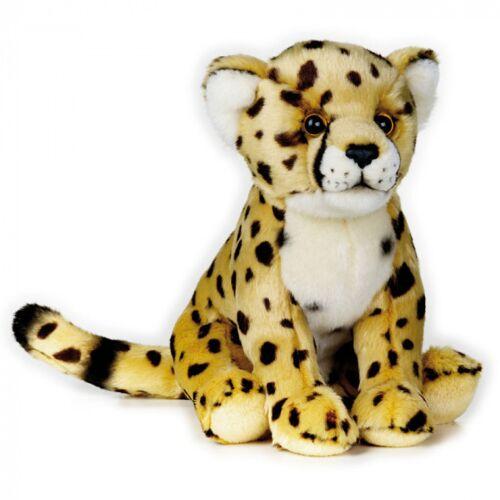 Lelly stofftier Gepard Junior 25 cm Plüsch gelb/weiß/schwarz