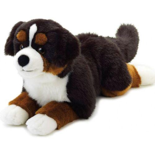 Lelly stofftier Hund Junior 40 cm Plüsch schwarz/braun/weiß