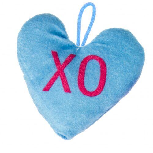 LG Imports stofftier Herz Junior 12 x 13 cm Plüsch blau