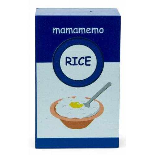 Mamamemo packung Milchreis 10 cm Holz blau/weiss