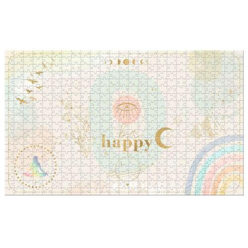 Moses puzzle Happy 28 x 46 cm karton beige/gold 500 teile