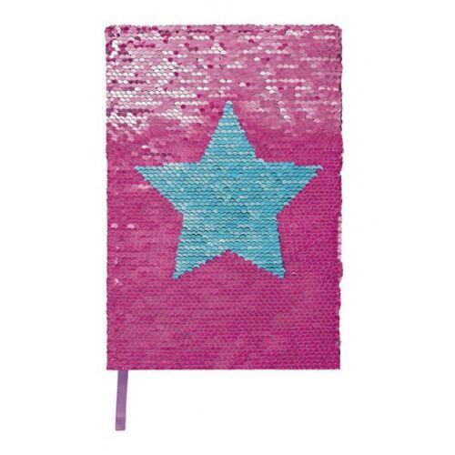 Moses notizbuch mit Twist Pailletten A5 rosa