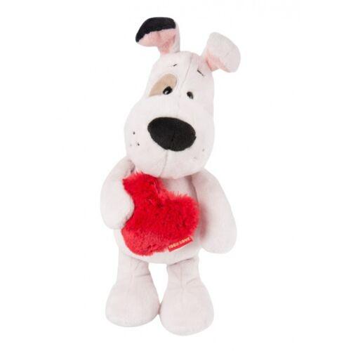 Nici stofftier Love dog junior 27 cm Polyester weiß/rot