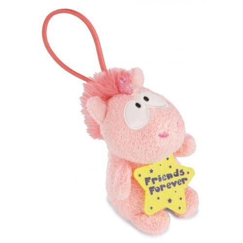 Nici stofftier Unicorn Merry junior plüsch 8 cm rosa/gelb