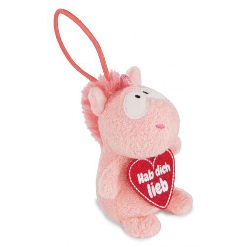 Nici stofftier Unicorn Merry junior plüsch 8 cm rosa/rot