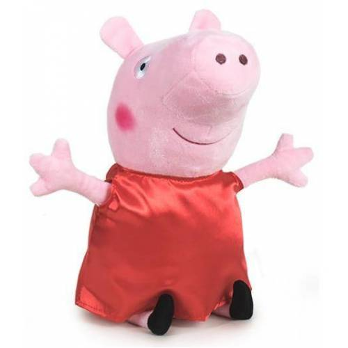 Play by Play stofftier Happy Peppa Pig junior 30 cm Polyester rot