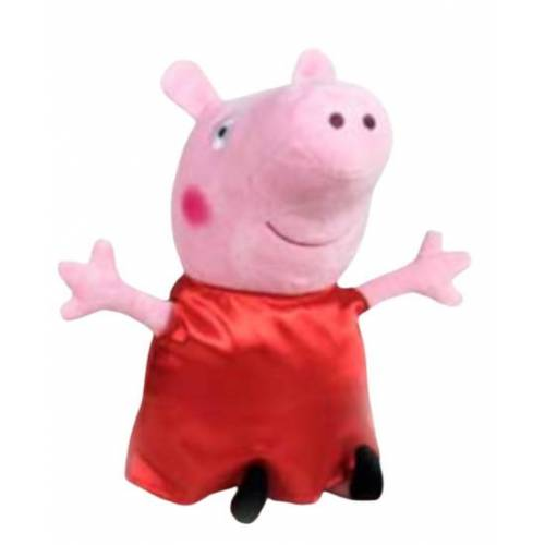 Play by Play stofftier Peppa Pig junior 31 cm Polyester rot