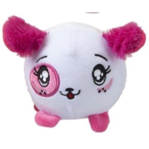 PMS stofftier Squishimi Hund Junior Plüsch 9 cm weiß/rosa