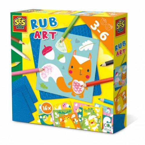 SES ausmalbilder Rub Art junior 20 cm Papier 27 teilig