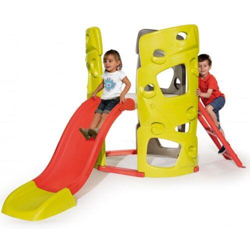 Smoby kletterturm junior 230 x 143 x 140 cm grün/rot