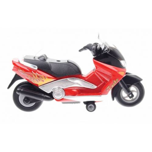 Goki Metal Motor: 12,5 cm ROT Motorrad
