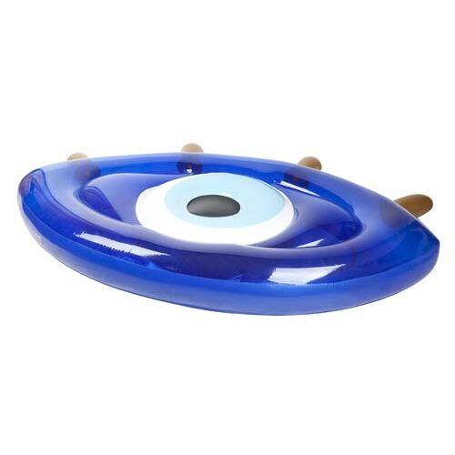 Sunnylife luftmatratze Greek Eye 185 x 110 cm PVC blau