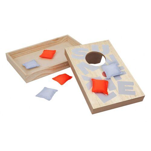 Sunnylife reisespiel Corn Hole 27 x 18,5 x 3 cm Holz 8 Stück