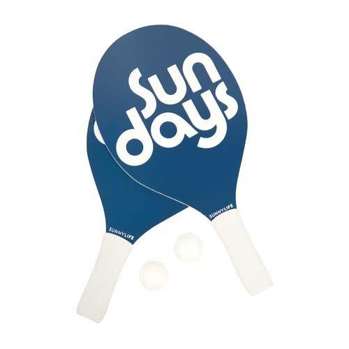Sunnylife beachtennis Set Outdoor Games 39 x 20 cm blau/weiß