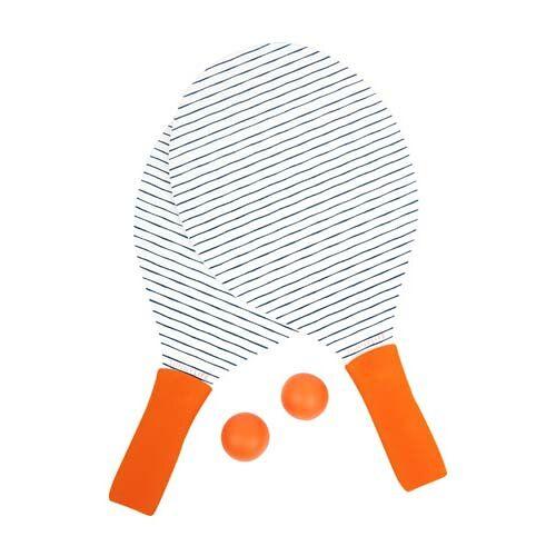 Sunnylife beachtennis Set Outdoor Games 39 x 20 cm orange/weiß