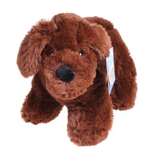 TOM stofftier Hund Junior 20 cm Plüsch dunkelbraun