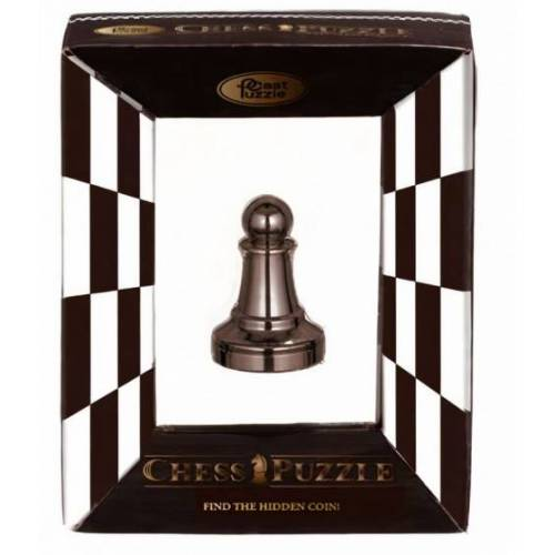 Cast schachpuzzle Chess Pawn 5,8 cm Stahl schwarz