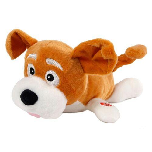 Toys Amsterdam stofftier Hund Junior 28 cm Plüsch braun/weiß