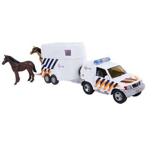 2-Play 2 Play polizei mit Pferdeanhänger Diecast Pullback 25 cm weiß