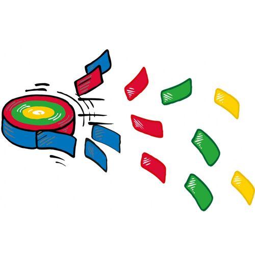 Amscan frisbee Konfetti junior 6,5 cm rot/grün/blau/gelb