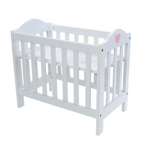 Angel toys verstellbares Puppenbett 49 x 29,5 x 44,5 cm Holz weiß