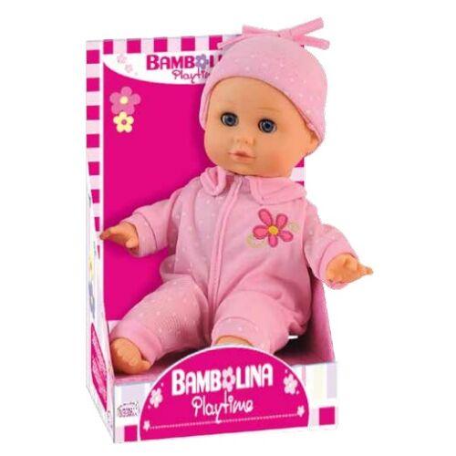 Bambolina Playtime babypuppe Dimian junior 30 cm Textil rosa