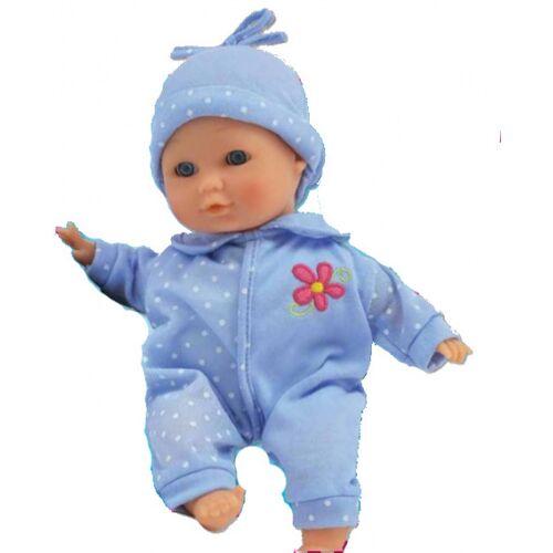 Bambolina Playtime babypuppe Dimian junior 30 cm Textil blau