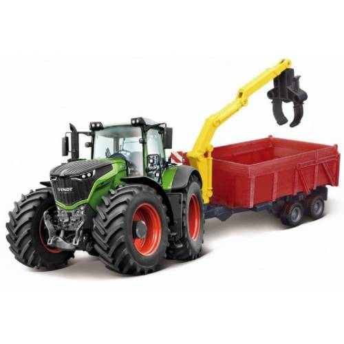 Bburago traktor mit Anhänger Fendt 1000 Vario 32,4 x 11 cm