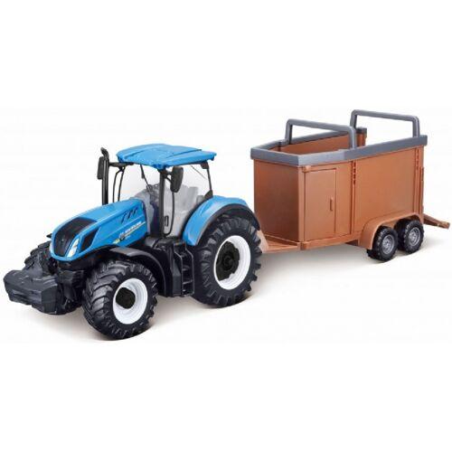 Bburago traktor mit Viehtransport T7.315 New Holland 32,3 x 11 cm