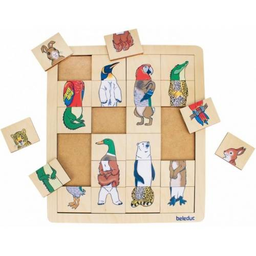 beleduc puzzle Mix & Match Tiere 24 Teile