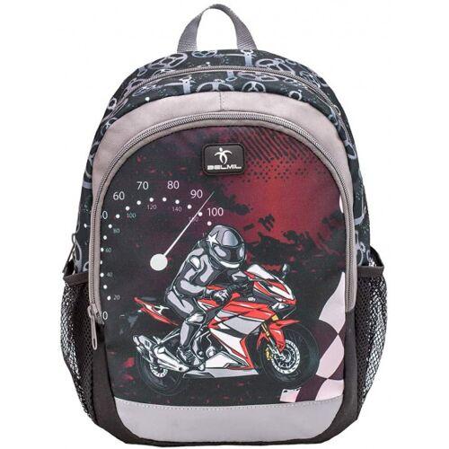 Belmil rucksack motorrad junior 12 liter polyester schwarz/rot