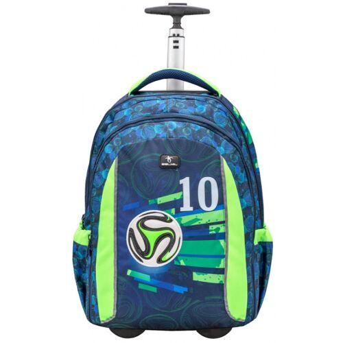 Belmil trolley Rucksack Fussball Junioren 25 Liter blau/grün