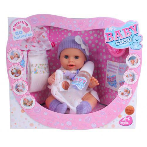 Berjuan babypuppe Baby Susu Mädchen 38 cm Vinyl lila