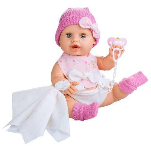 Berjuan baby Puppe Susú Mädchen Vinyl/Textil 38 cm rosa 8 Stk
