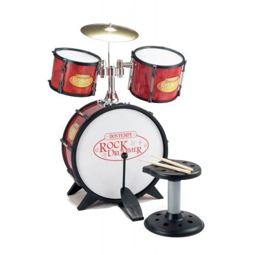 Bontempi Rock Schlagzeuger Drum rot / schwarz 7 Stück