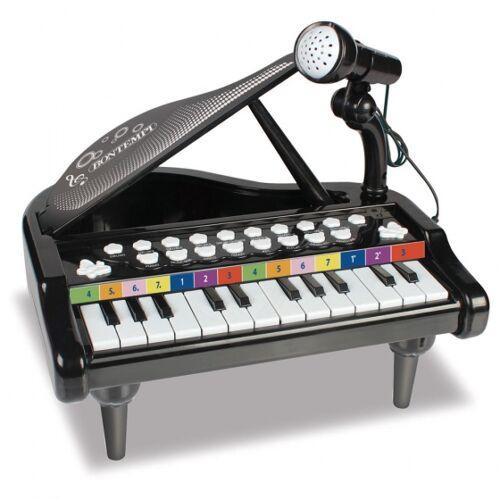 Bontempi elektronisches Klavier mit Mikrofon 30 cm schwarz