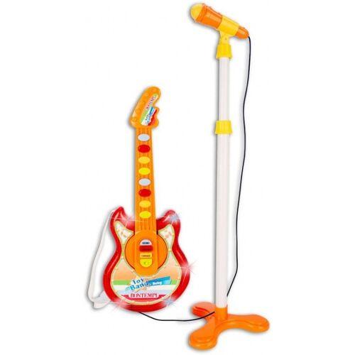 Bontempi Toyband Babygitarre mit stehendem Mikrofon orange